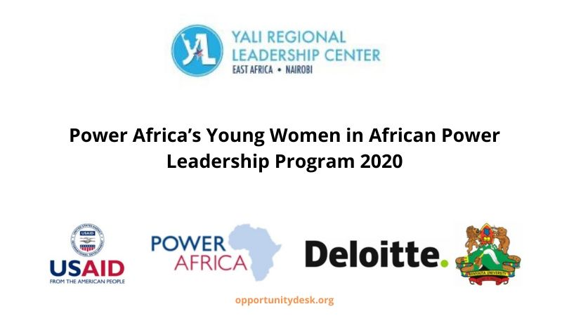 YALI RLC-EA/Power Africa's Young Women in African Power Leadership Program 2020 (Fully-funded)