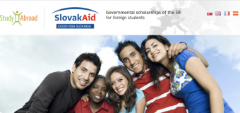 Slovak Government Scholarships 2020/2021 for Foreign Students