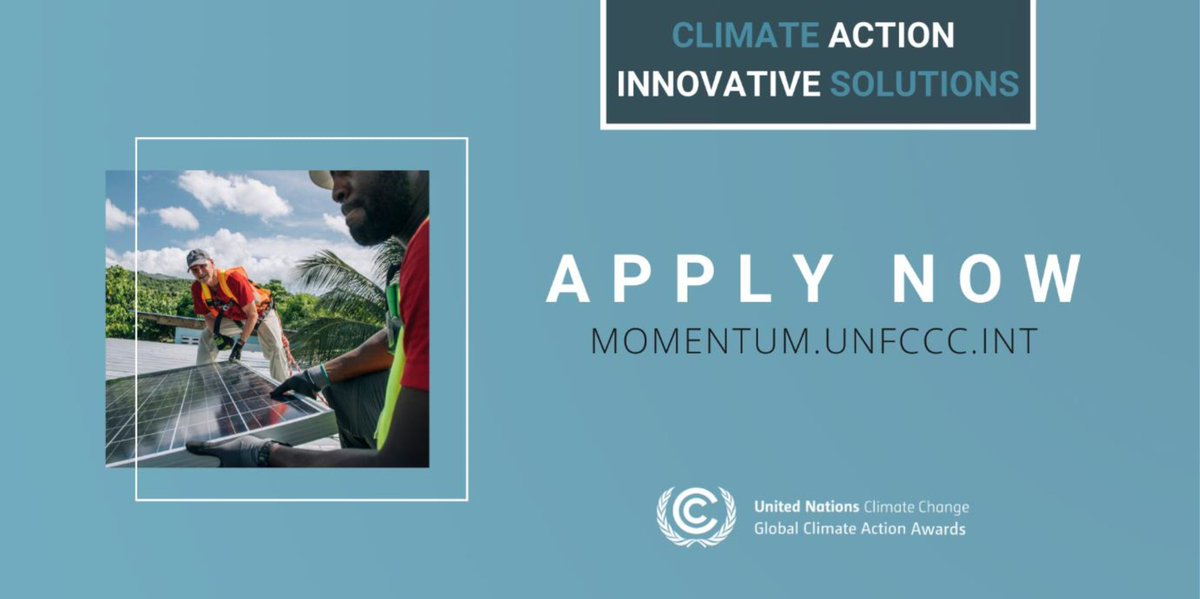 UNFCCC Momentum for Change Global Climate Action Award 2020 (Fully-funded to COP 26 in Glasgow, Scotland)