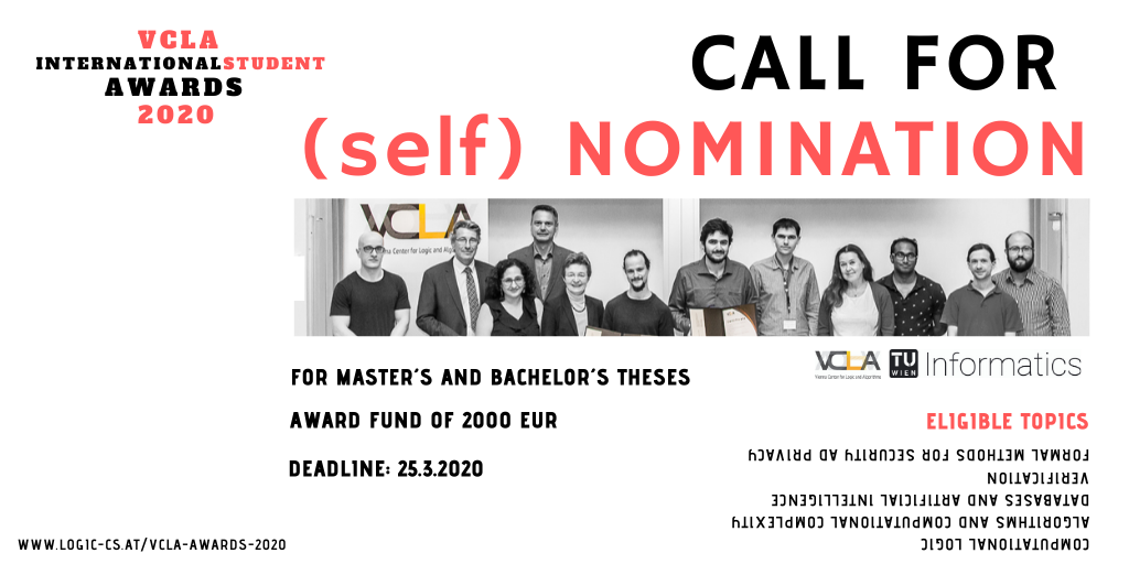 VCLA International Student Awards 2020 for Outstanding Master and Bachelor Theses