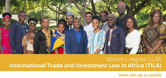 Centre for Human Rights LLM in International Trade & Investment Law in Africa (TILA) 2021 (Scholarships available)