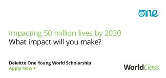 Deloitte One Young World Scholarship to attend OYW Summit 2020 (Fully-funded to Munich, Germany)