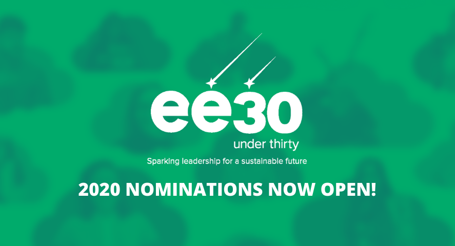 EE 30 Under 30: Global Award for Young Leaders in Environmental Education 2020
