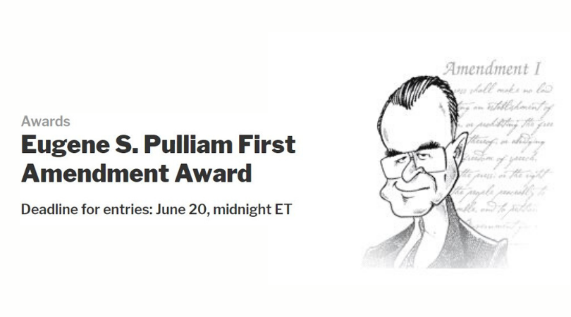 Eugene S. Pulliam First Amendment Award 2020 ($10,000 cash award)