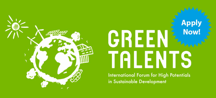Green Talents Competition 2020 for Young Researchers in Sustainable Development (Fully-funded to Germany)