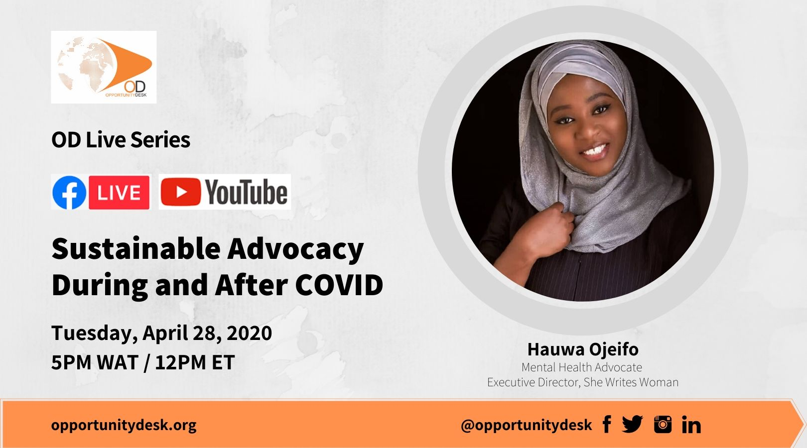 OD Live with Hauwa Ojeifo – Sustainable Advocacy During and After COVID-19