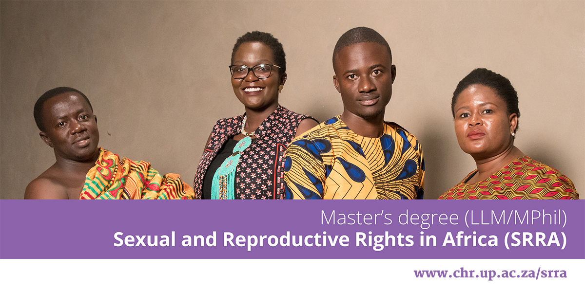 Call for Applications: LLM/MPhil in Sexual & Reproductive Rights in Africa (SRRA) 2021 at Centre for Human Rights (Full Scholarships Available)
