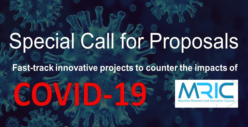 Mauritius Research and Innovation Council Call for Proposals: Projects to Counter the Impacts of COVID-19