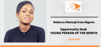 Rebecca Olatunji from Nigeria is OD Young Person of the Month for April 2020!