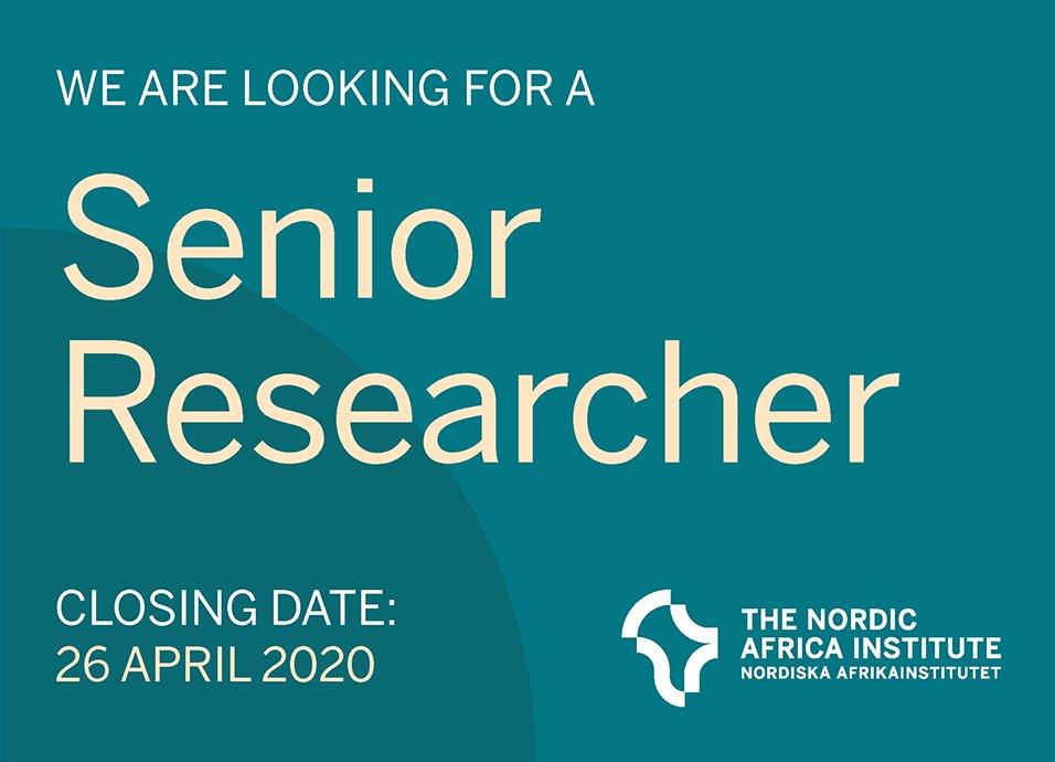 Nordic Africa Institute's African Scholar Program 2020 for Senior Researchers