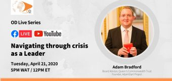 OD Live with Adam Bradford: Navigating through Crisis as a Leader