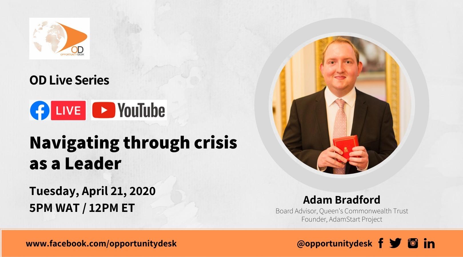 OD Live with Adam Bradford: Navigating through Crisis as a Leader
