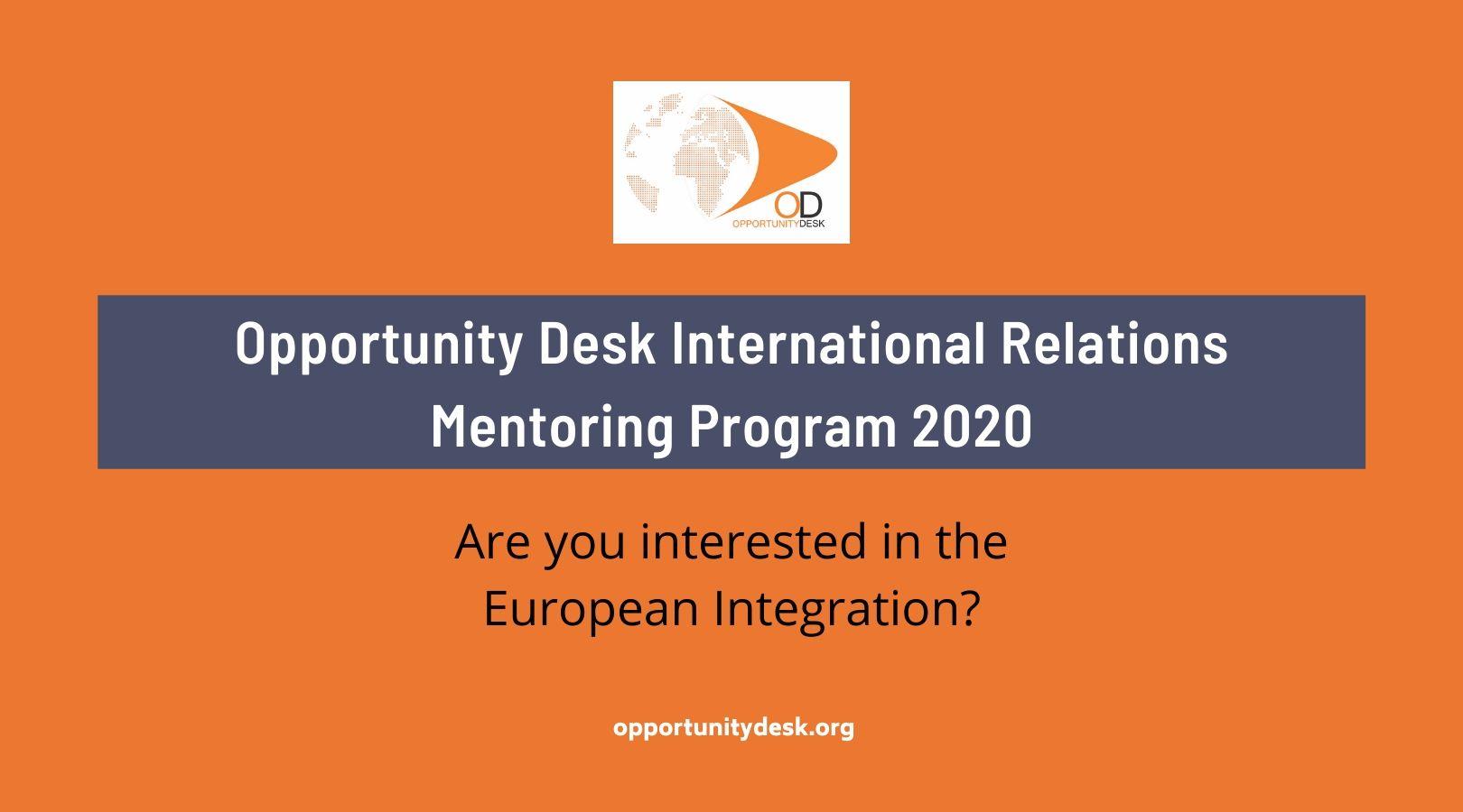 Opportunity Desk International Relations Mentoring Program 2020