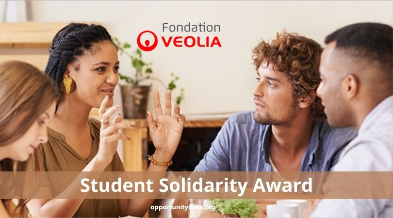 Veolia Foundation Student Solidarity Prize 2020 (Win a share of 10,000 euros)