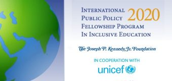 The Joseph P. Kennedy, Jr. Foundation International Policy Fellowship 2020 (Fully-funded)