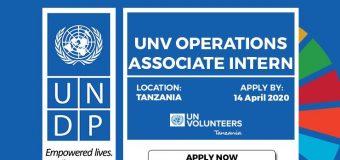UNDP UNV Operations Associate Internship Program 2020 in Tanzania