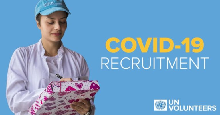 Call for Applications: United Nations Volunteers for Novel Coronavirus (COVID-19) Pandemic Response