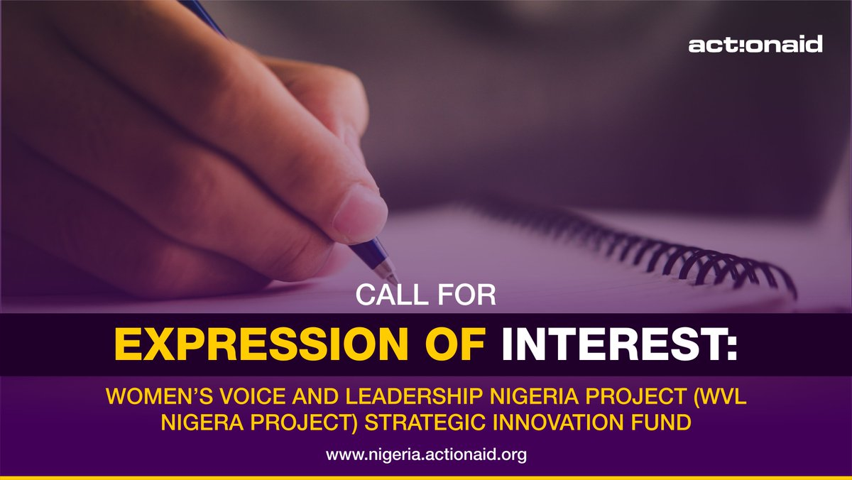 Call for Expression of Interest: Women's Voice and Leadership Nigeria Project Strategic Innovation Fund 2020 (up to N1,000,000)