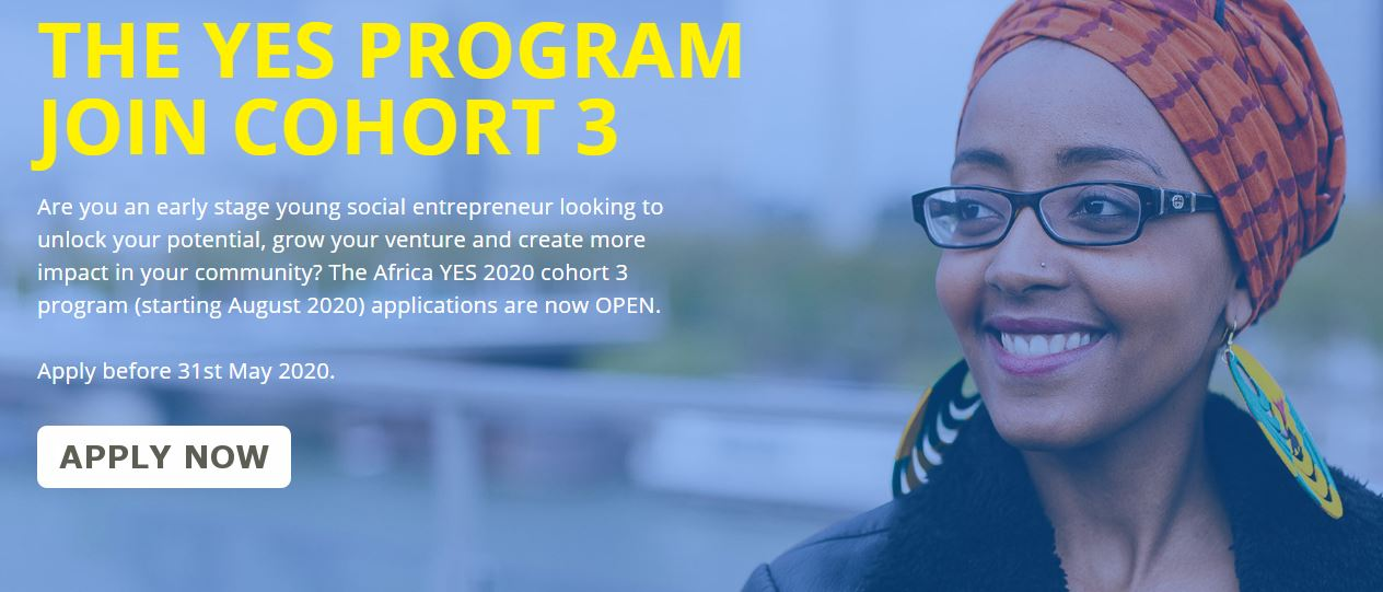 Africa Young Entrepreneur Support (YES) Cohort 3 Program 2020 for Kenyan Social Entrepreneurs (Up to $15,000 in Funding)