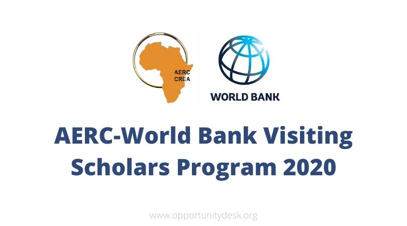 AERC-World Bank Visiting Scholars Programme 2020