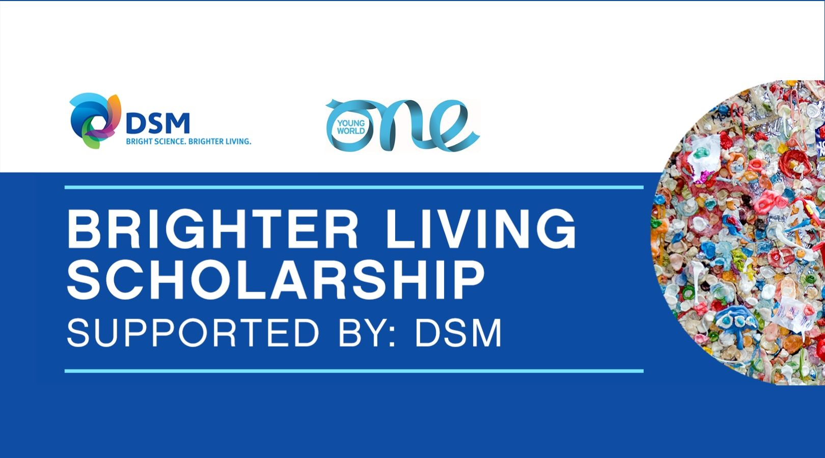 DSM Brighter Living Scholarship – Resources & Circularity 2020 to attend One Young World Summit (Fully-funded)