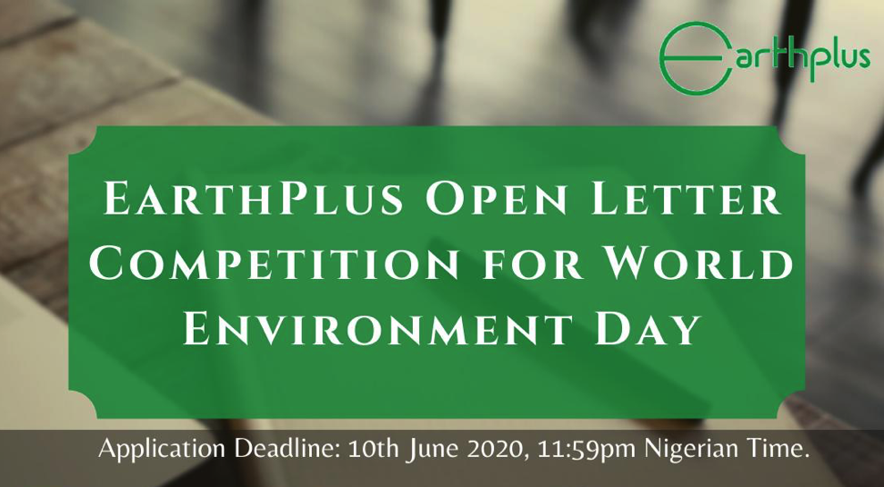 EarthPlus Letter Writing Competition to mark World Environment Day 2020 [Nigeria]