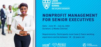 Lagos Business School Online Training 2020 for Young Senior Executives in Nonprofit Management (Scholarship Available)