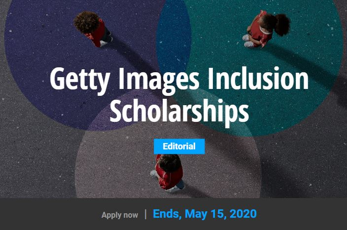 Getty Images Inclusion Scholarships 2020 for Undergraduate and Graduate students (up to $10,000)