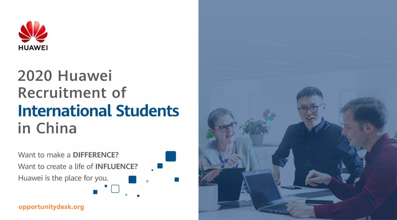 Huawei Recruitment of International Students in China 2020