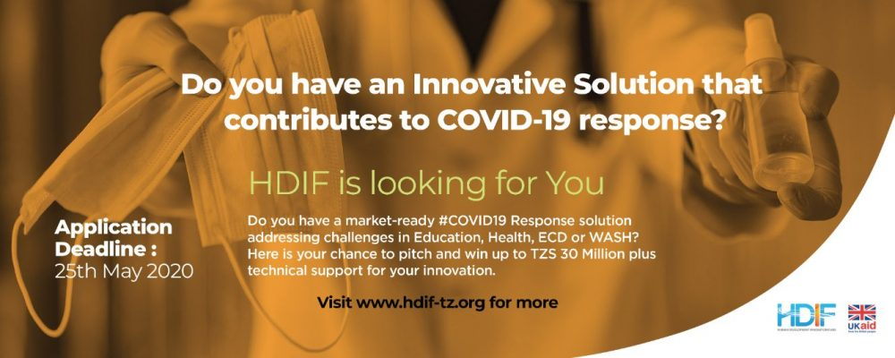 Human Development Innovation Fund (HDIF) COVID-19 Response Challenge 2020 for Tanzanians