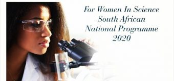 L'Oréal-UNESCO For Women in Science South African National Programme 2020 (Up to R160,000)