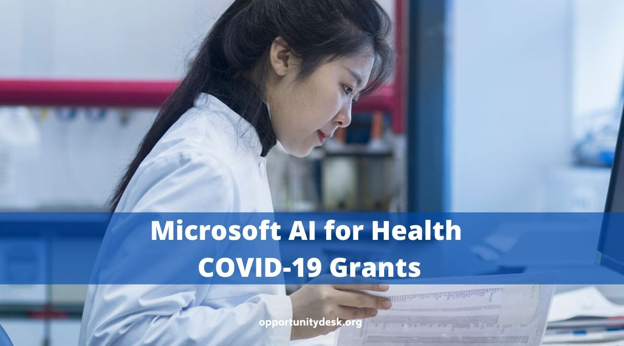 Microsoft AI for Health COVID-19 Grants 2020