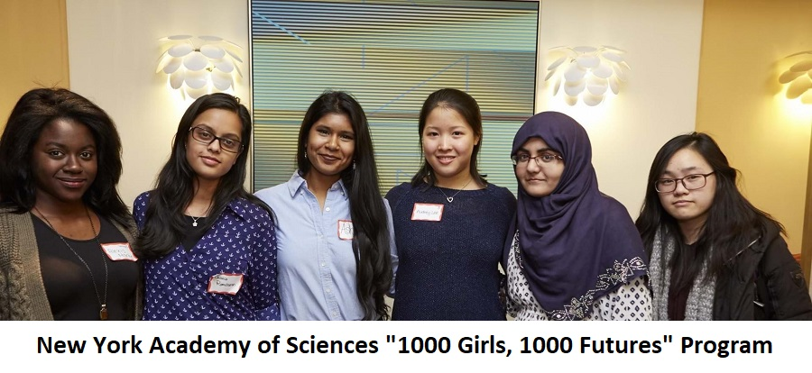 """New York Academy of Sciences """"1000 Girls, 1000 Futures"""" Program 2020 for Young Women in STEM"""
