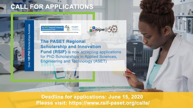 PASET Regional Scholarship and Innovation Fund PhD Scholarships 2020/2021 (Fully-funded)