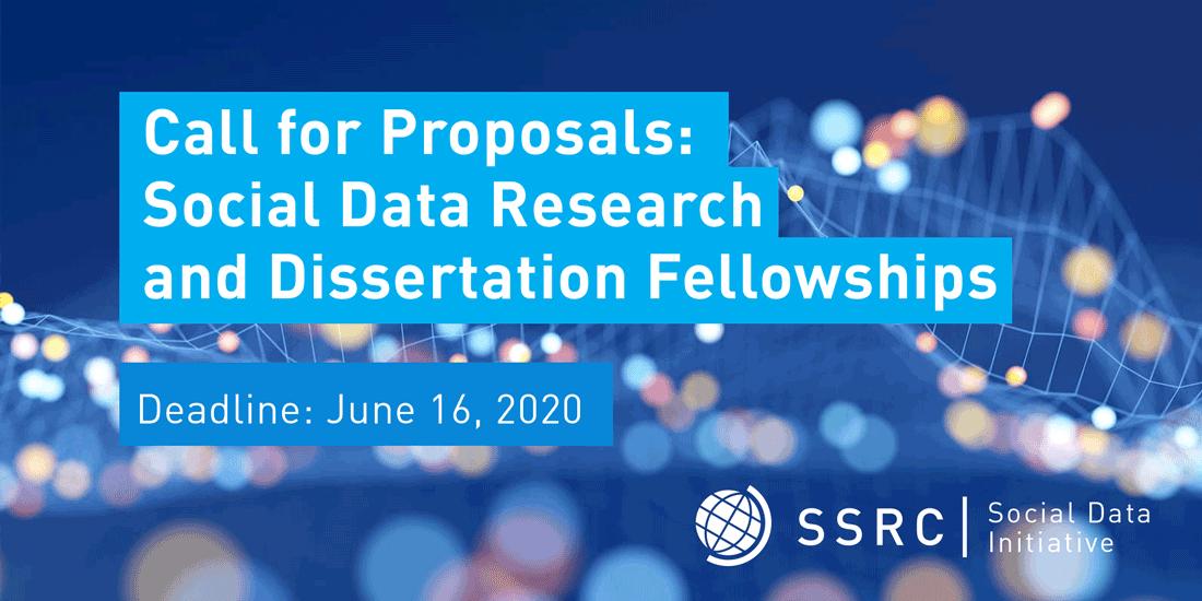 SSRC Social Data Research and Dissertation Fellowships 2020