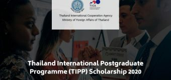 Thailand International Postgraduate Programme (TIPP) Scholarships 2020