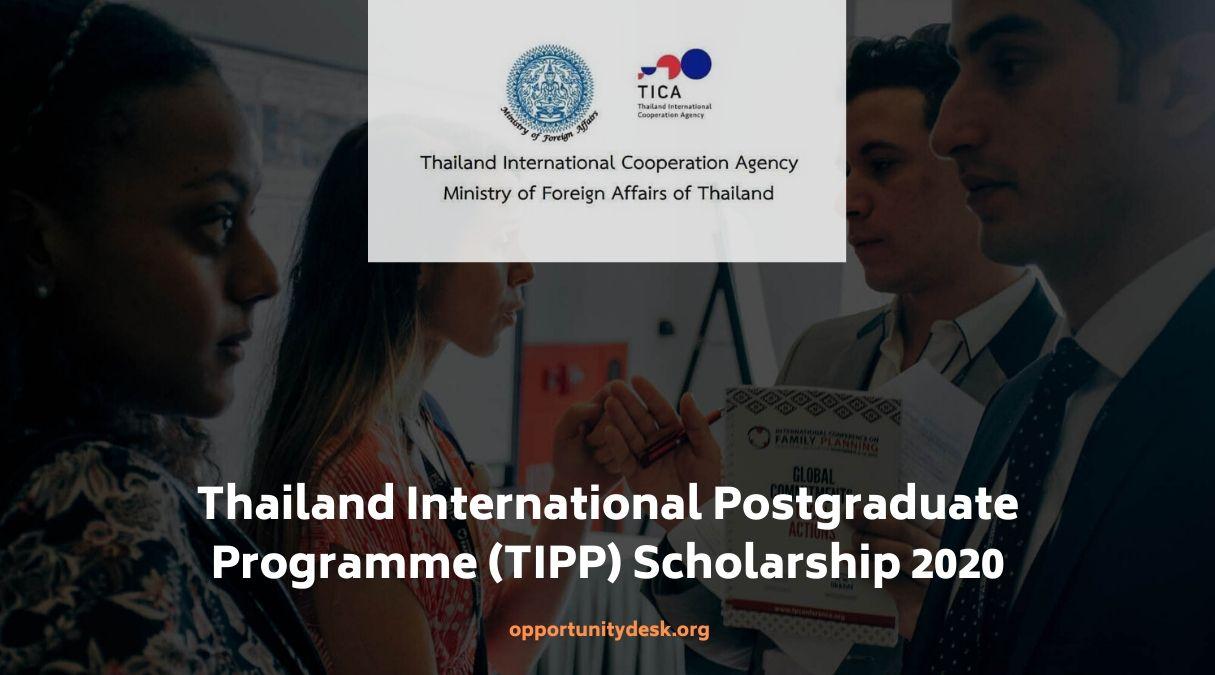 Thailand International Postgraduate Programme (TIPP) Scholarships 2020