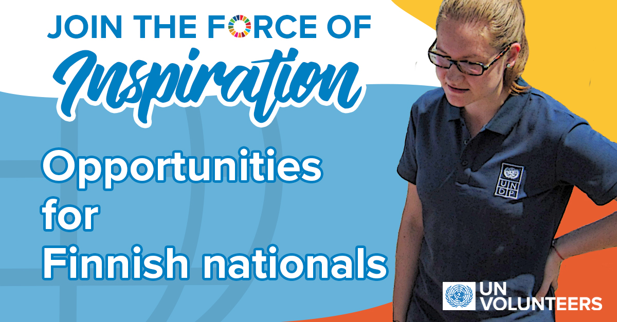 UN Volunteer Opportunities for Finnish Nationals 2020