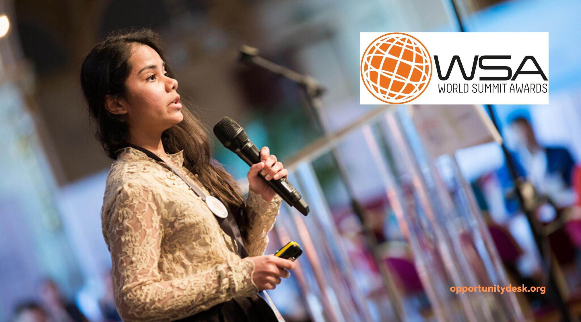 World Summit Awards – WSA Young Innovators 2020 (Win invitation to the WSA Global Congress)