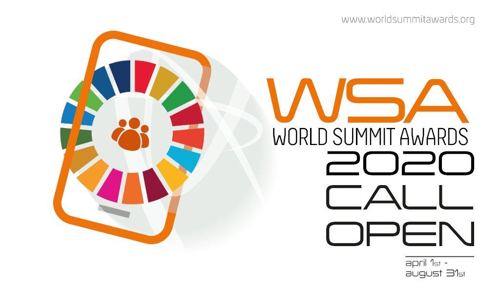World Summit Awards 2020 for Digital Solutions (Invitation to WSA World Congress in Vienna)