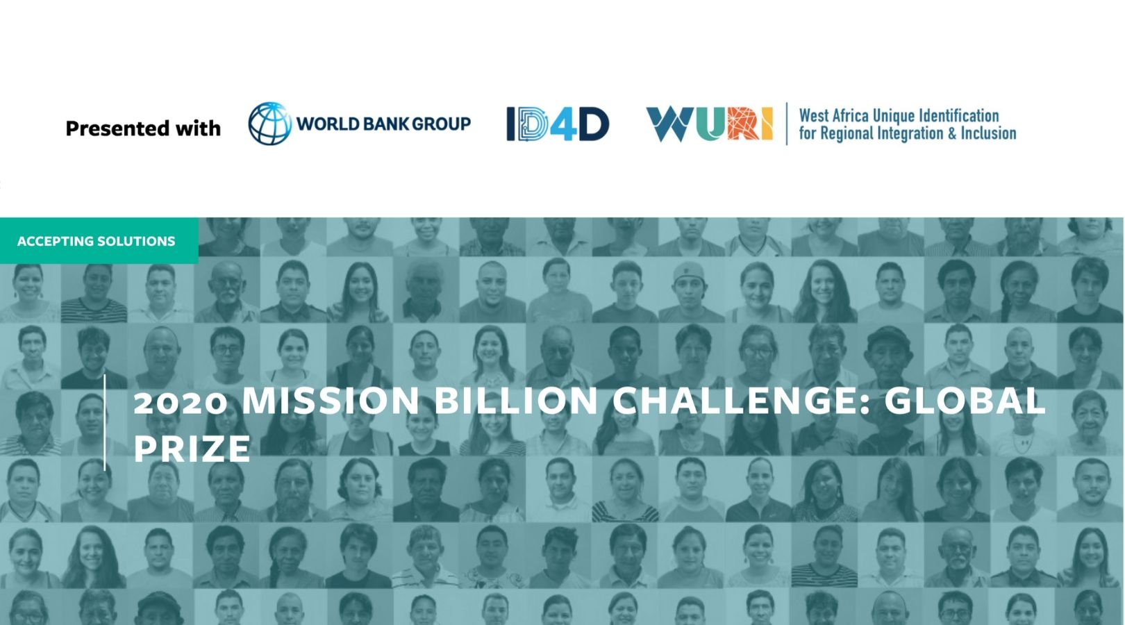 WorldBank Group Mission Billion Challenge Global Prize 2020 (Up to $150k in prizes)
