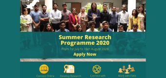 Youth Center for Research (YCR) Virtual Summer Research Programme 2020
