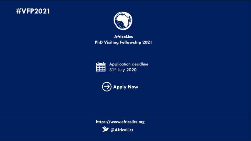 AfricaLics PhD Visiting Fellowship Programme 2021 at Aalborg University, Denmark (Funding available)
