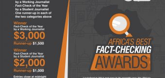 African Fact-Checking Awards 2020 for Journalists (up to $7,500 in prizes)