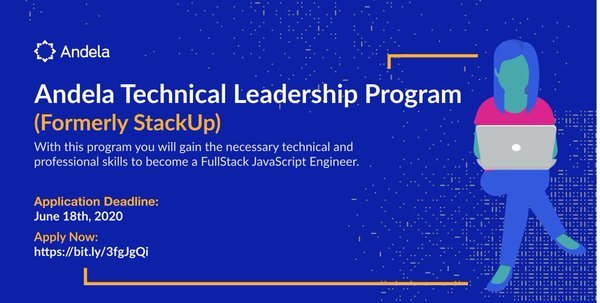 Andela Technical Leadership Program 2020 for Rwandese nationals (Cohort 4)