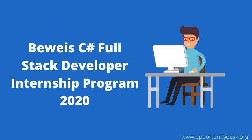 Beweis C# Full Stack Developer Internship Program 2020 in France (Stipend available)