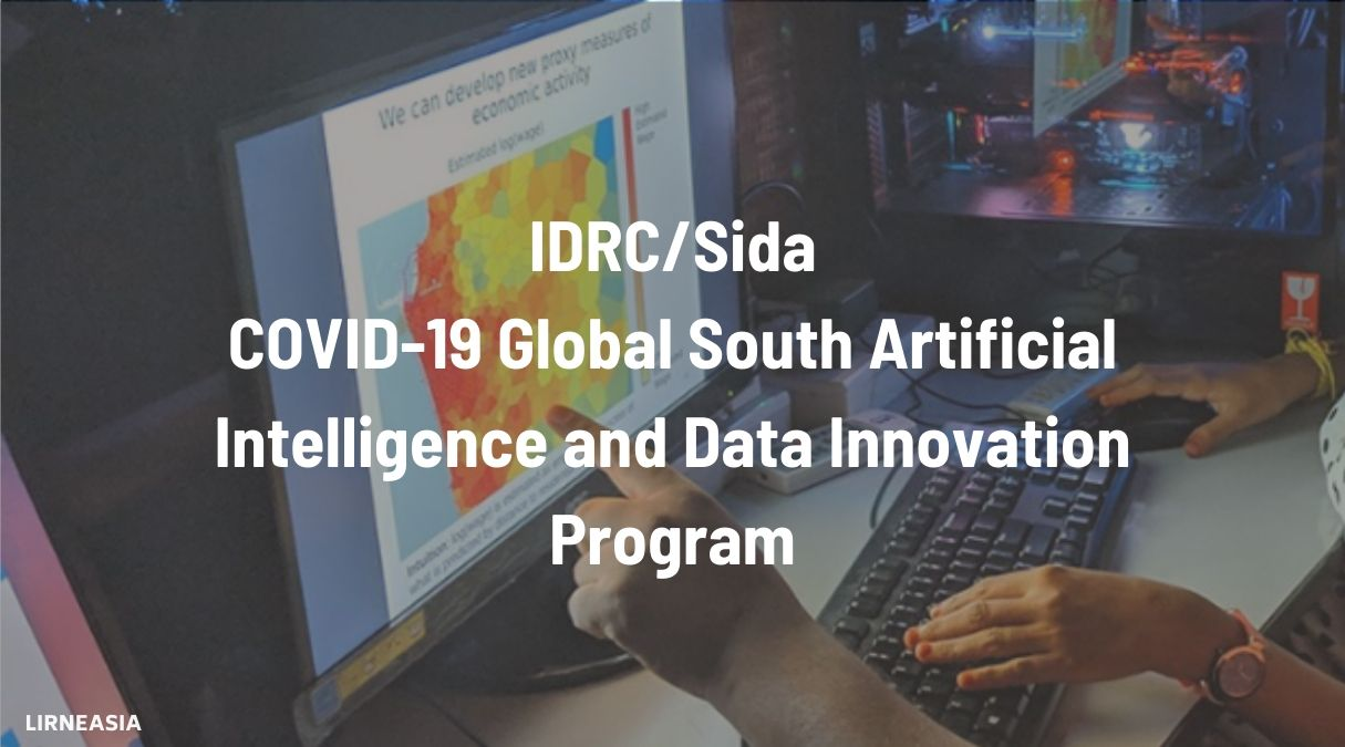 IDRC/Sida COVID-19 Global South Artificial Intelligence and Data Innovation Program 2020