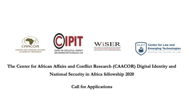 Center for African Affairs and Conflict Research (CAACOR) Digital Identity and National Security in Africa Fellowship 2020