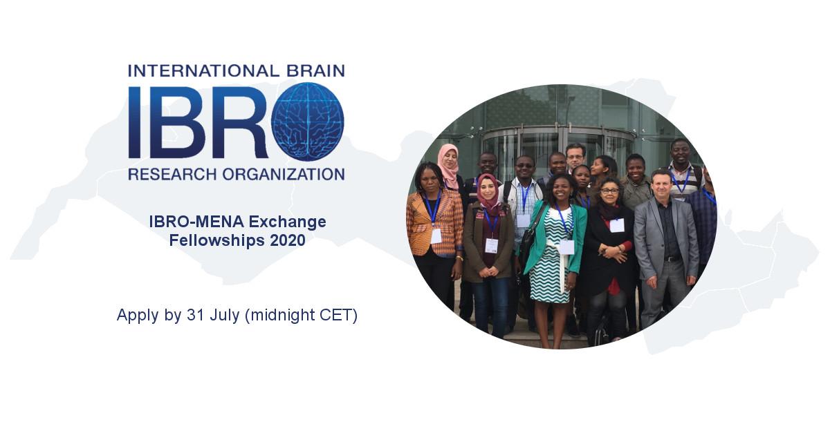 IBRO-MENA Exchange Fellowship Program 2020 (up to $2,000)