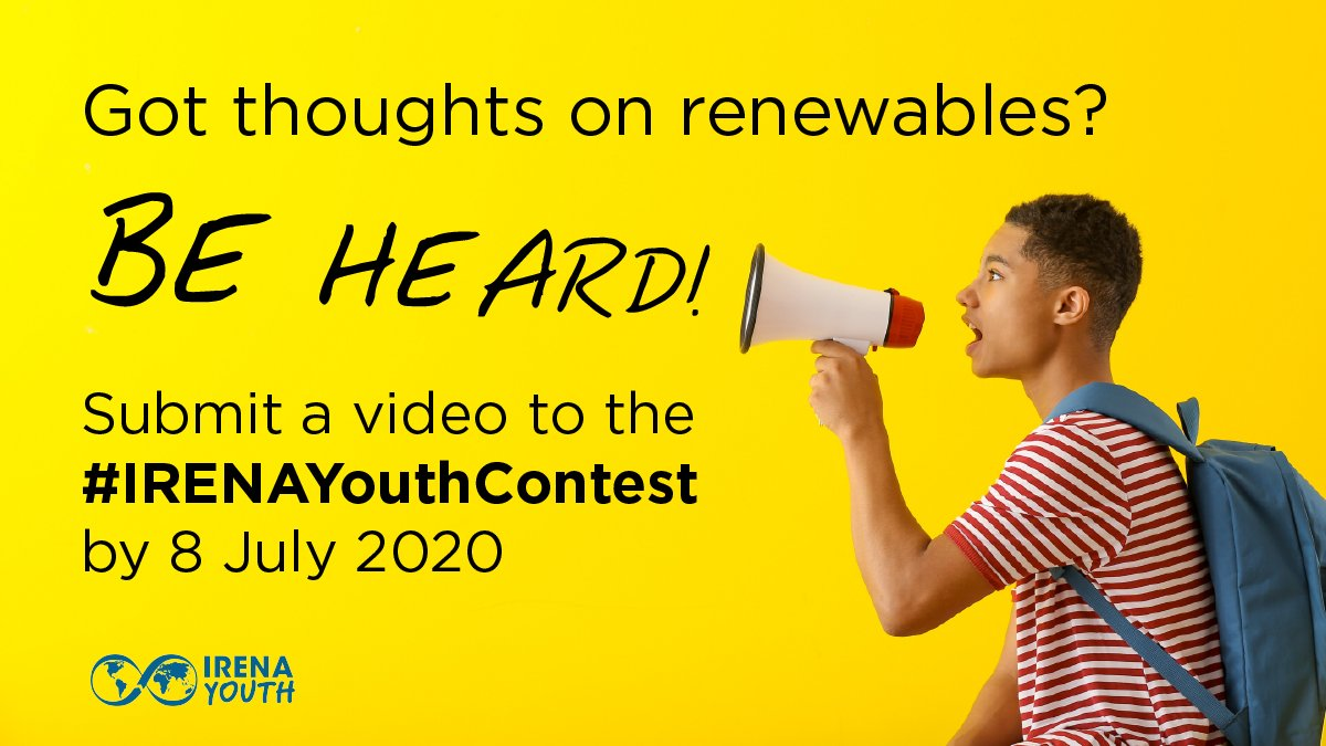 International Renewable Energy Agency (IRENA) Youth Video Contest 2020